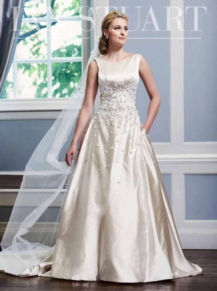 40 best Ian Stuart Bridal images on Pinterest   Short wedding gowns ...