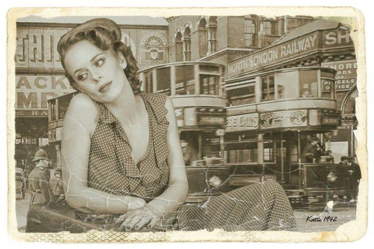 Katie arrives in London. Summer 1942 by EDWARD DULLARD on 500px
