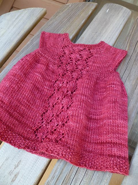 Ravelry: Nancy Baby Dress pattern by Taiga Hilliard Designs fingering 320-640m 0-18 months/2-3 years