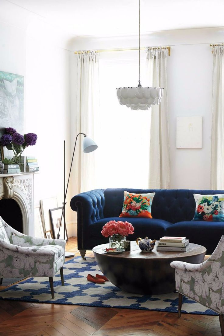 12 Incredible Blue Chesterfield Sofas That You Will Covet This Fall | Living  Room Set. Part 69