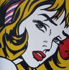 The red ribbon girl  Roy Lichtenstein