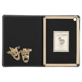 Comedy and Tragedy Theater Masks Black iPad Air Cover | Zazzle Comedy and Tragedy Theater Masks Black iPad Air Cover by kahmier Browse Theater DODOcases online at Zazzle.com