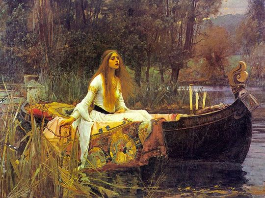 Lady of Shalott (1888)Artists, Green Gables, John Waterhouse, Boats, King Arthur, First House, Lady, John William Waterhouse, John Williams Waterhouse