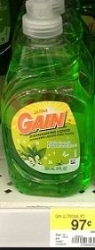 $.25 off any One Gain Dishwashing Liquid ($.72 at Walmart after the coupon)