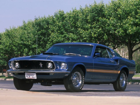 """1969 was the first year of the """"Mach 1"""" model Mustangs. Like the Shelby cars, these Mustangs were high-performance models that offered more power, more speed, and more attitude. The """"Mach 1"""" series ran from 1969 to 1979."""