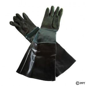 Strahlhandschuhe für Sandstrahlkabine - Strahl Handschuhe - Schutzhandschuhe - Länge 60 cm. Mehr dazu...https://www.strahlgeraeteshop.de/sandstrahlkabinen-zubehor/strahlhandschuhe-fur-pp-t-0007-0008-0140-und-1314-strahl-handschuhe.html