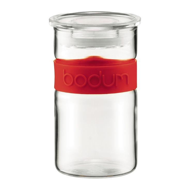 bodum PRESSO Storage jar, 0.25 l, 8 oz Red
