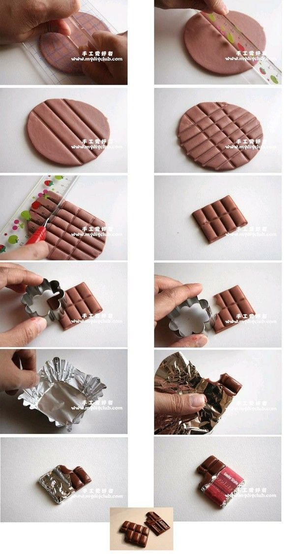 Fimo chocolate