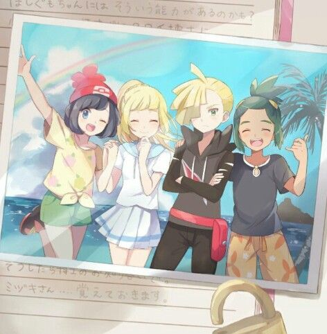 Moon, Lillie, Gladion and Hau ^^♥