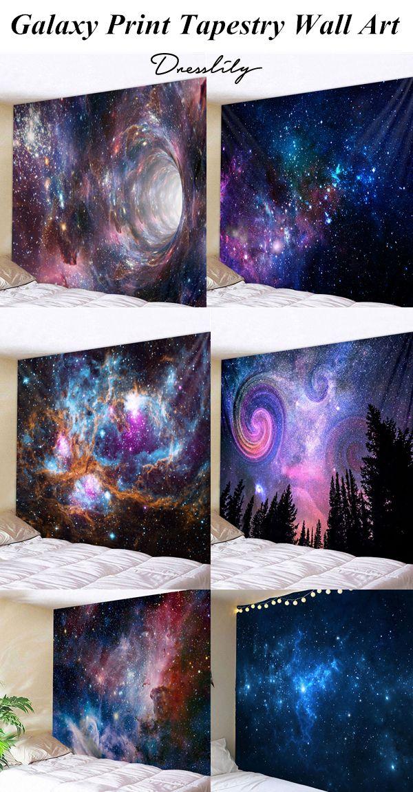 Colorful Galaxy Print Tapestry Wall Art Dresslily Wallart Decoration Printed Tapestries