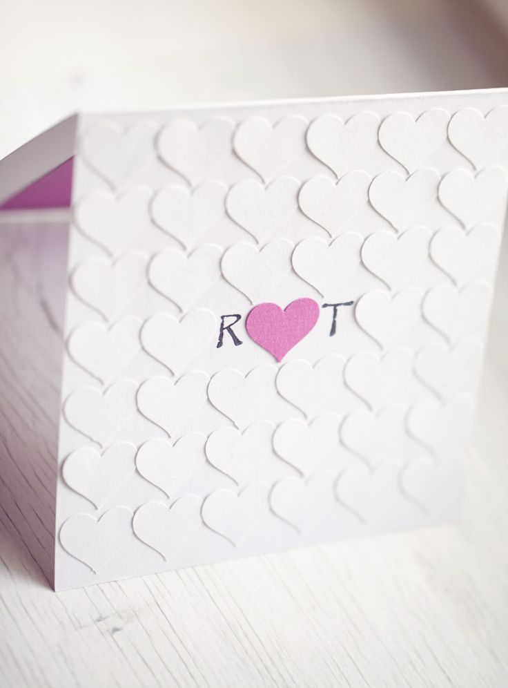 handmade wedding invitation #heart Idea for wedding invites. Except with stamps and chalk?? :)