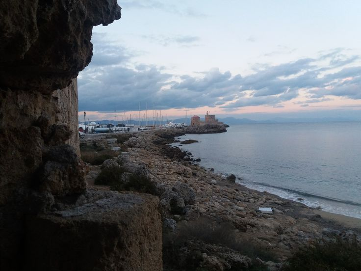 View through the fortification, Rhodes,Greece