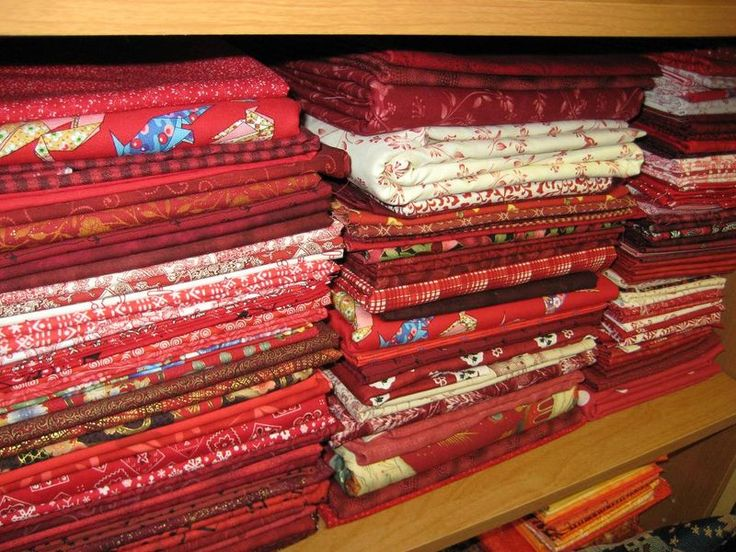red and white stash fabric