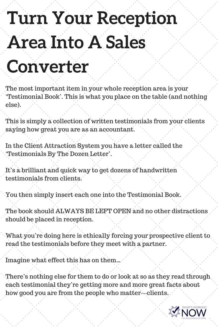 Transform your boring reception area into a sales converter. Generate more sales and inquiries by doing very little.