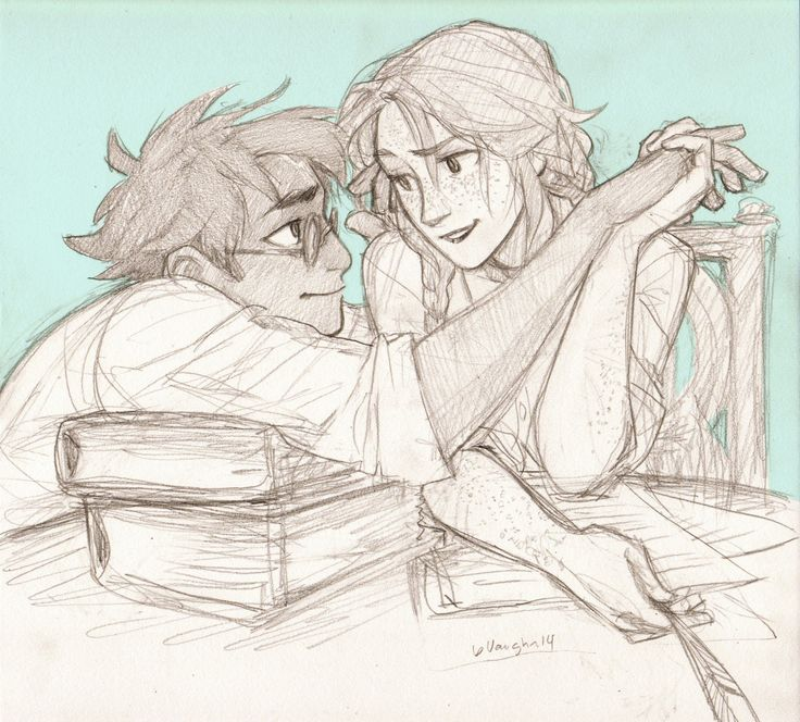 """""""I don't think this is what Hermione had in mind when she suggested you help me revise."""" Harry met Ginny's eyes with a practiced angelic expression, """"No?"""" She shook her head, not falling for his act even for a moment. Almost unconsciously, he reached up to gently brush her bangs from her cheek and continued, """"I'm surprised we even made it to the library, actually."""" """"No thanks to you. You realize I'll blame you if I fail my OWLs?"""" """"Of course. But you won't fail."""" [x]"""