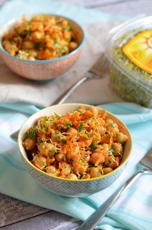 Sárgarépás-mustáros csicseriborsó-saláta