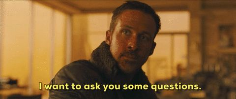 New party member! Tags: ryan gosling blade runner 2049 i want to ask you some questions