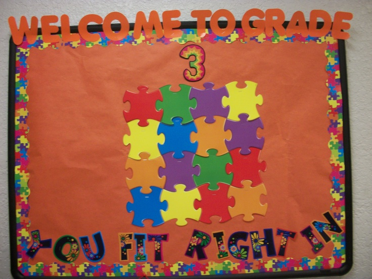Students' photos will be attached to the puzzle pieces.