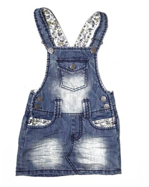 *The Perfect play pini*  Kiniki Vintage Trim Denim Pinafore, Girls Clothing