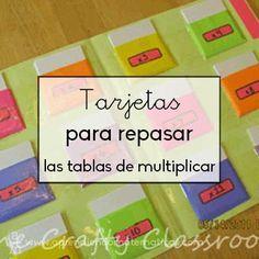 Tarjetas para repasar las tablas de multiplicar http://blgs.co/Ao-7bs