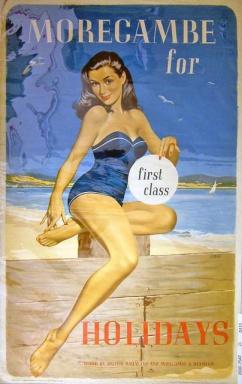 Morecambe, Lancashire, England vintage travel poster