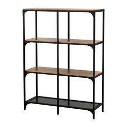 IKEA - FJÄLLBO, シェルフユニット, , スチールと無垢材製の素朴なシェルフユニット。一台一台表情が異なりますシンプルなユニットは限られたスペースで収納力を発揮します。ものが増えたら、ユニットを追加してもっと大きなソリューションもつくれます足の高さを微調整できるので、平らでない場所でも安定します