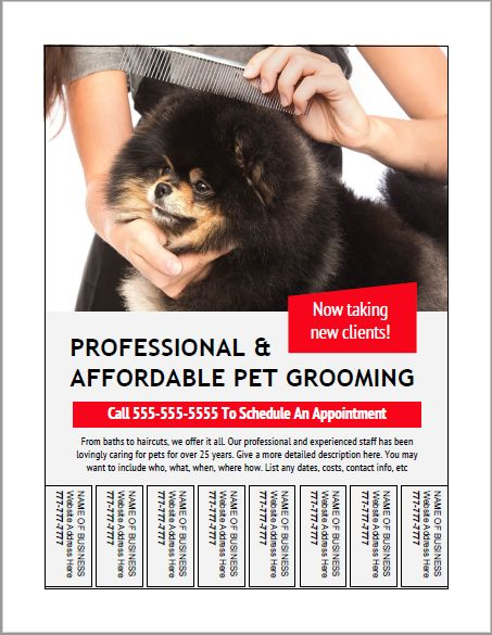 93 best dog grooming business marketing images on pinterest dog grooming bulletin board flyer templates httpthegroomerssecret solutioingenieria Choice Image