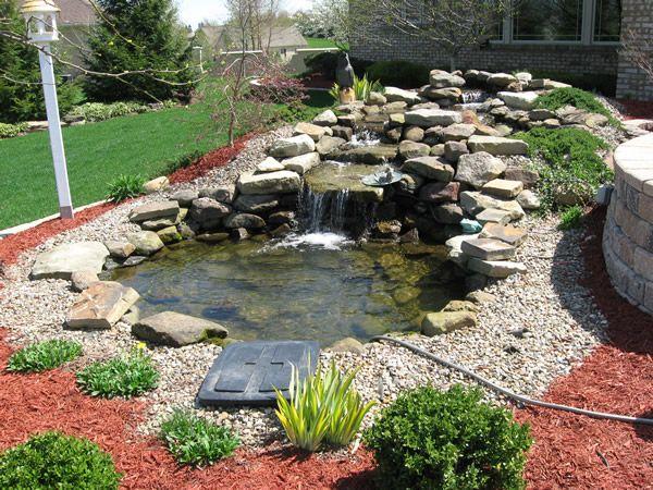 25 trending pond waterfall ideas on pinterest diy for Preformed garden waterfalls