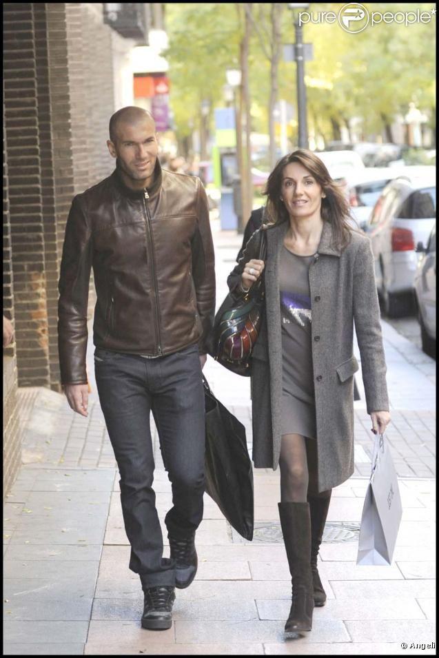 Zinedine Zidane and Véronique Fernández