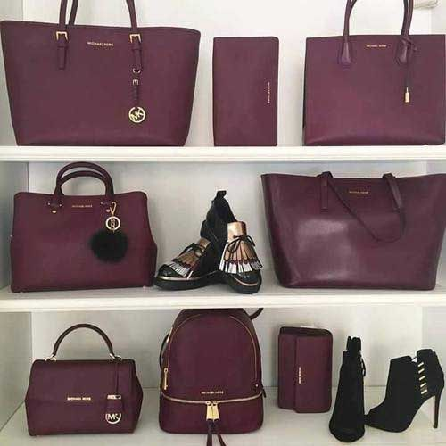 burgundy-michael-kors-bags- Branded handbag that are on trend