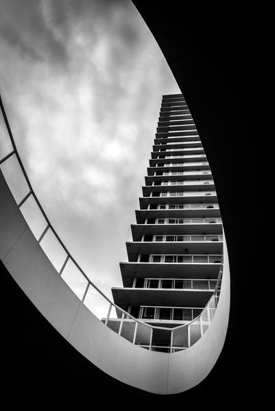 'Residential building on a cloudy day' by Jacek  Kadaj on artflakes.com as poster or art print $18.03