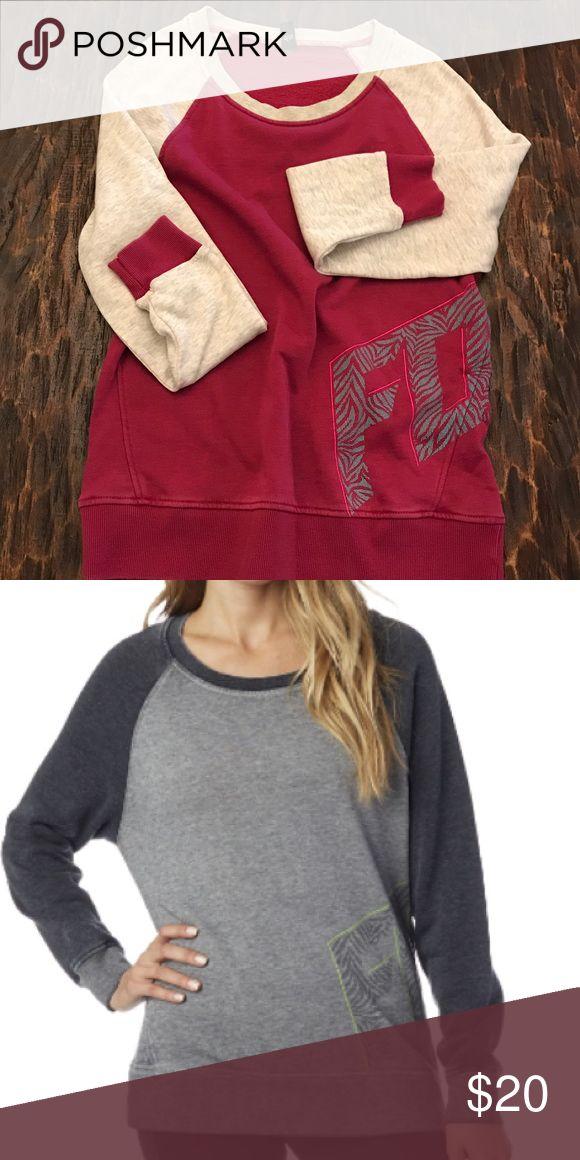 Fox crew fleec Flat lay shows actual piece. Model is product from fox website to show fit. Fox Sweaters Crew & Scoop Necks