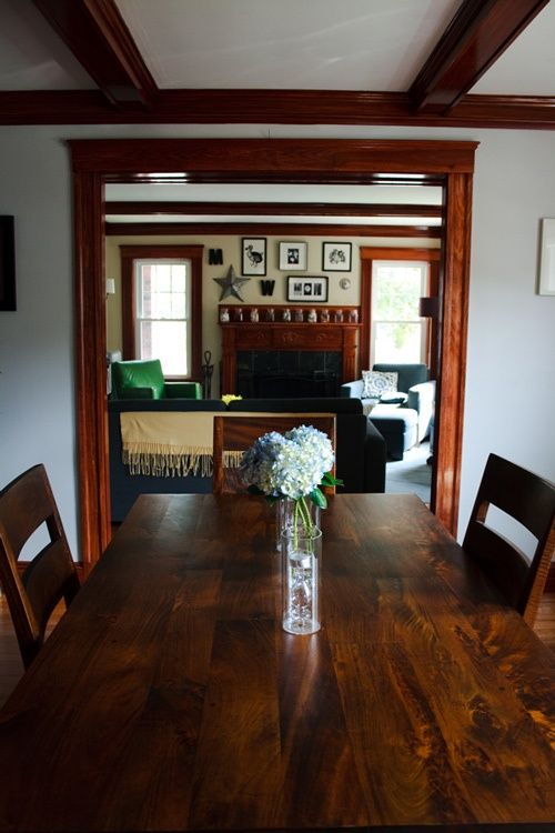 decorating with wood trim - Dining Room Paint Colors Dark Wood Trim