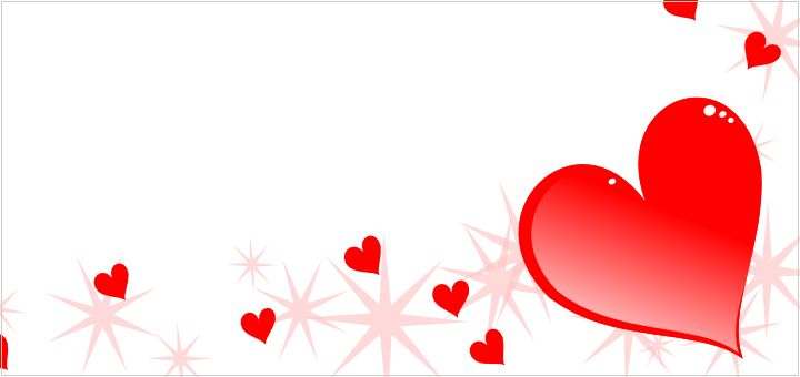 free pink hearts and stars border  a fun themed border for