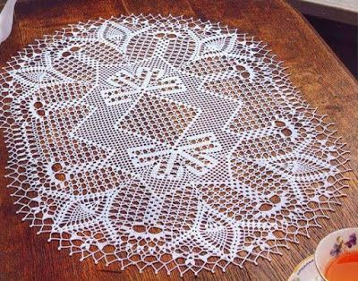 crochet home: Oval doily