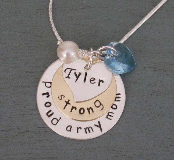 Proud Army Mom Necklace Army Mom Army Wife by MadiesCharms on Etsy, $28.00