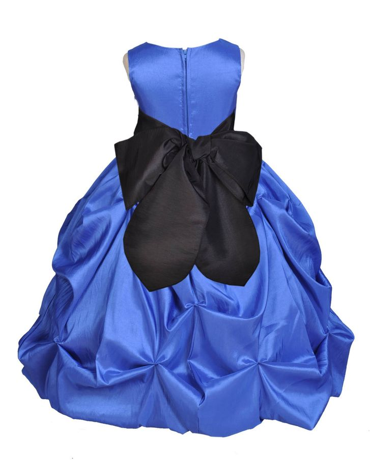 Royal Blue Bubble Taffeta Formal Bridesmaid Beauty Pageant Special Occasions Flower Girl Dress 301s