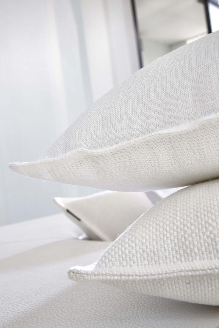Focus Coussins En Lin Blanc Et Rafa L Blanc Collection Heytens Panneaux Japonais Effets De