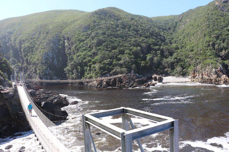 Storms River Bridge im Tsitsikamma National Park mit vielen schönen Wandertouren