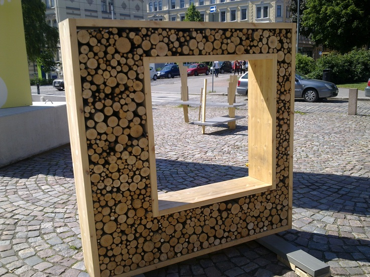 Design in front of the Helsinki Design Museum.