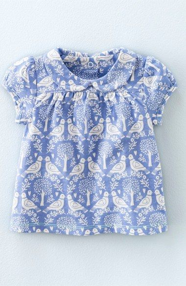 Mini Boden 'Pretty' Peter Pan Collar Print Top (Baby Girls & Toddler Girls)