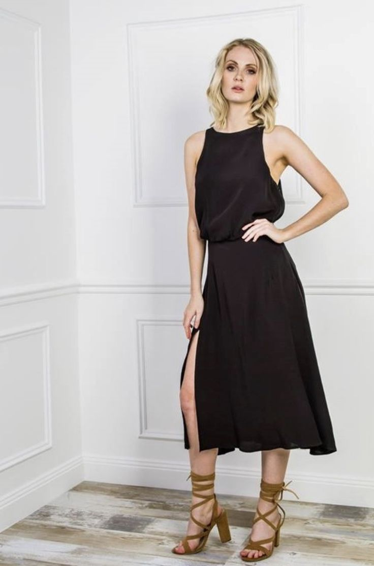 Easy wearing black dress for any occasion.