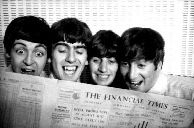 Paul McCartney, George Harrison, Ringo Starr, and John Lennon