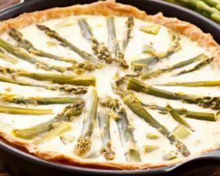 Tarte légère asperges et fromage frais