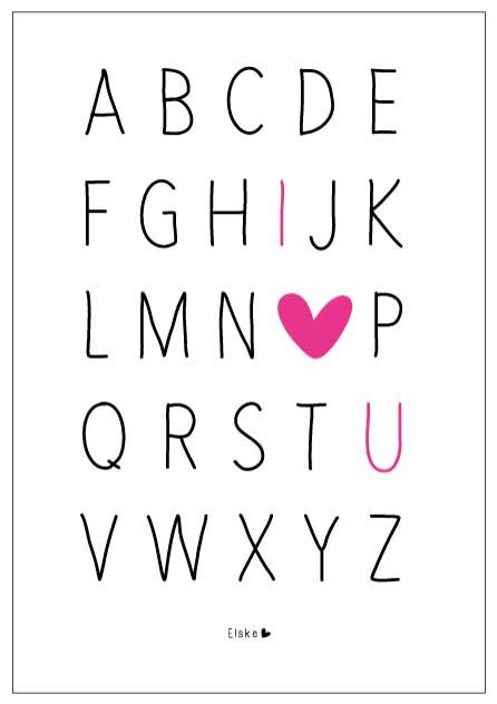 ABC and I love you! Dit te gekke idee zag ik al meerdere malen op Pinterest voorbij komen en ik kon het niet laten er een eigen versie van te maken. Voor volgende week staat er weer een nieuwe printable #elskeposter klaar! En wie weet kan ik eindelijk wat meer...