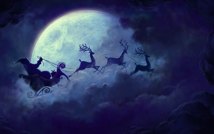 Children around the world will be in for a surprise delight on Christmas Eve as Slooh provides the public a free opportunity to catch a glimpse of Santa Claus and his reindeer flying across the Full Moon on his way down from the North Pole.