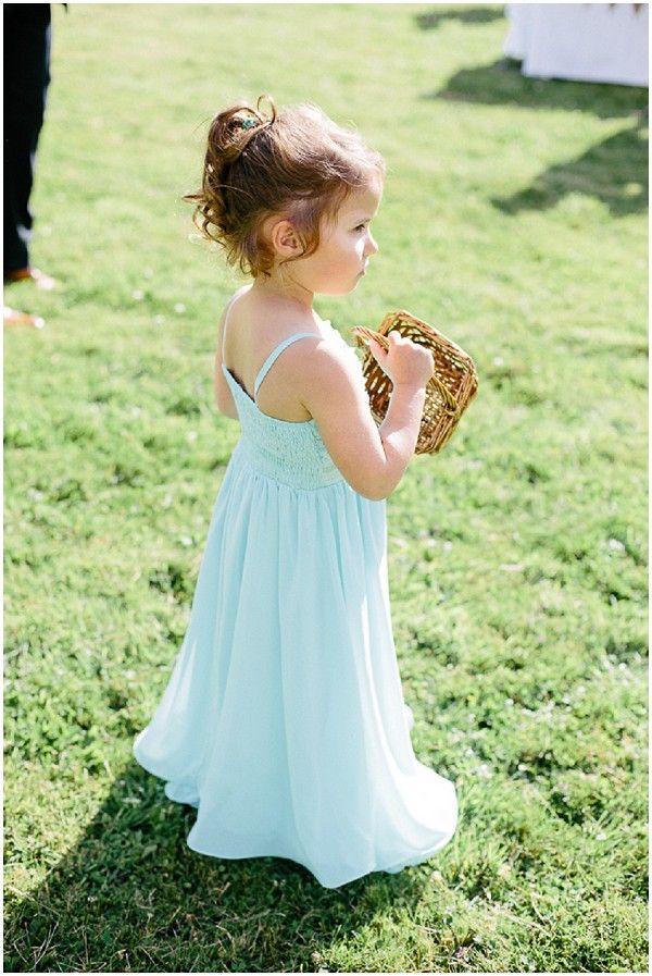 Mint flowergirl dress | Image Sophie Delaveau Photography