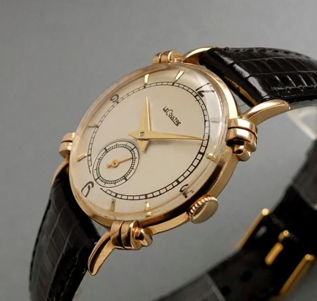 JAEGER LECOULTRE 14K Solid Gold Vintage Watch 1948 RADICAL ...