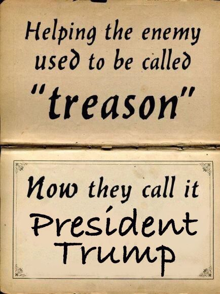 "Mr Shattuck pointed out that treason is committed by a person who adheres to their enemies, ""giving them aid or comfort,"" or who has ""knowledge of the commission of any treason [who] conceals and does not disclose"". Trump wants to undermine the US intelligence agencies that conducted the investigation so that he may intimidate them or shape them to fit his own agendas."