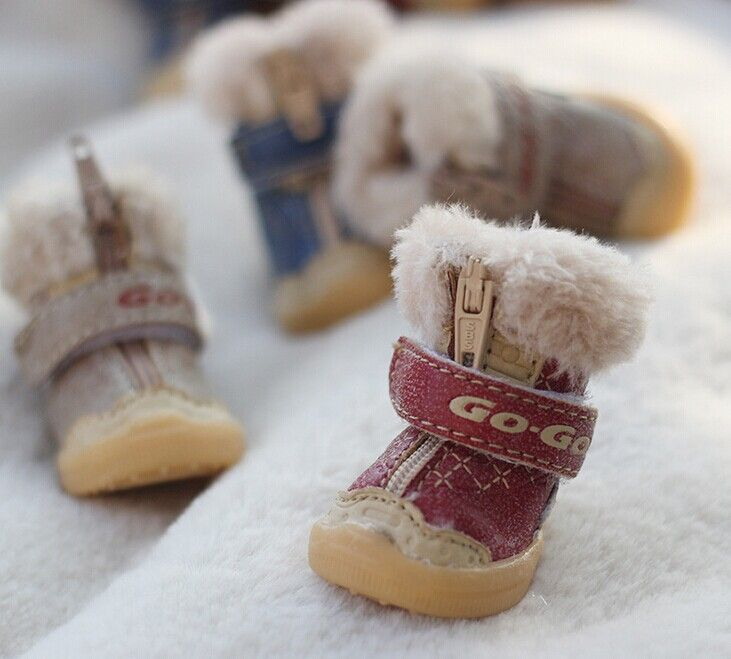 Luxury Pet Winter Fluffy Shoes Dogs Boots Shoes Pet Accessories
